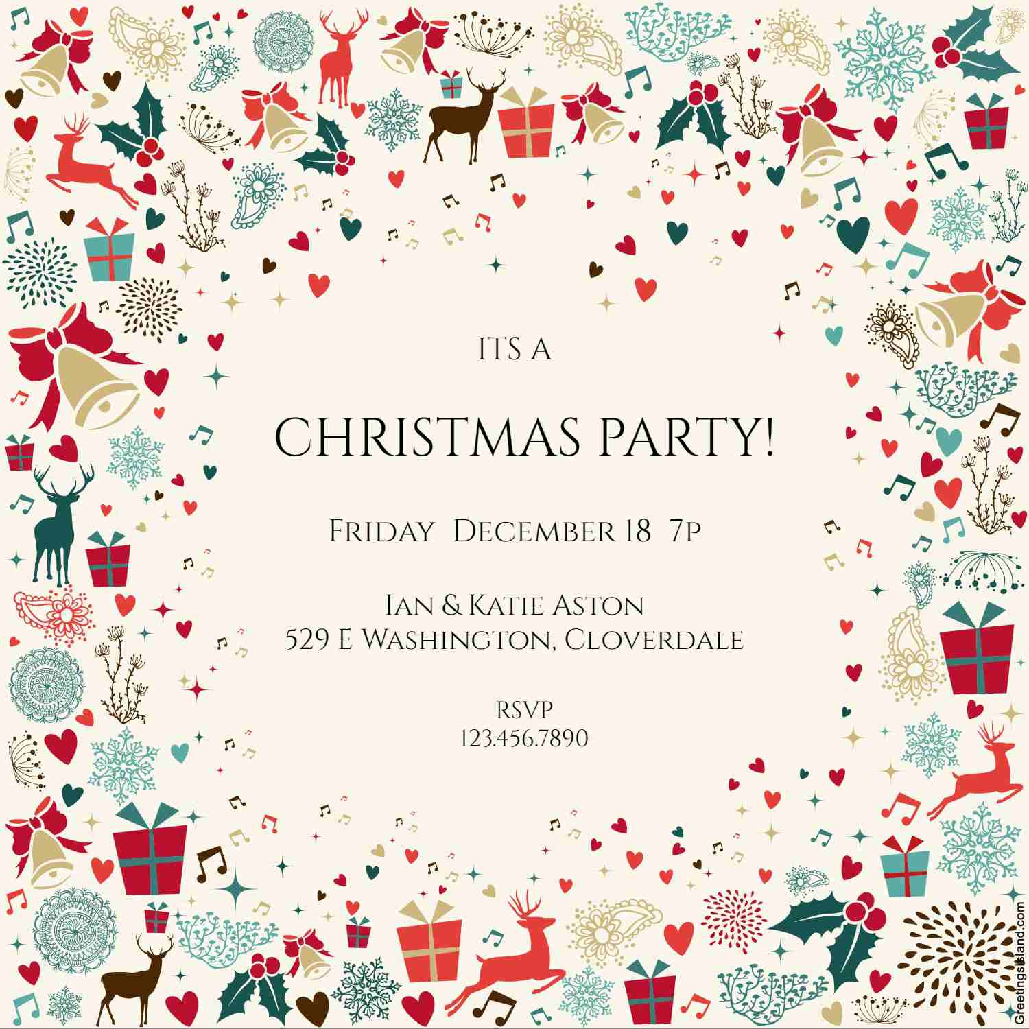 10 Free Christmas Party Invitations That You Can Print - Free Printable Christmas Invitations