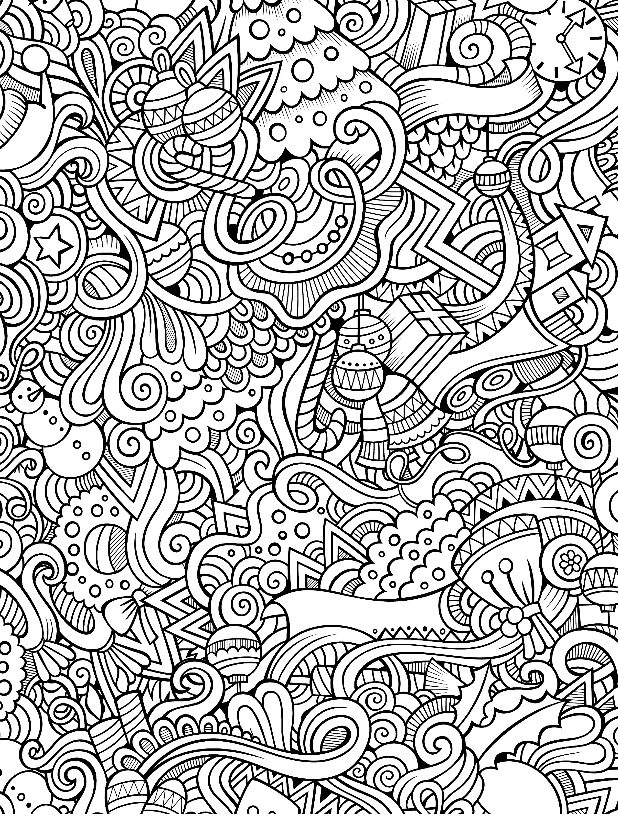 10 Free Printable Holiday Adult Coloring Pages - Free Printable Holiday Coloring Pages