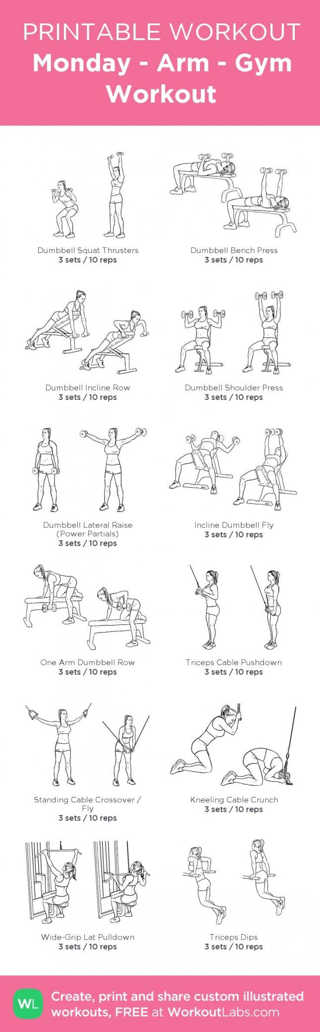 10 Free Printable Workouts To Get Fit Anywhere | Brit + Co - Free Printable Workout Routines