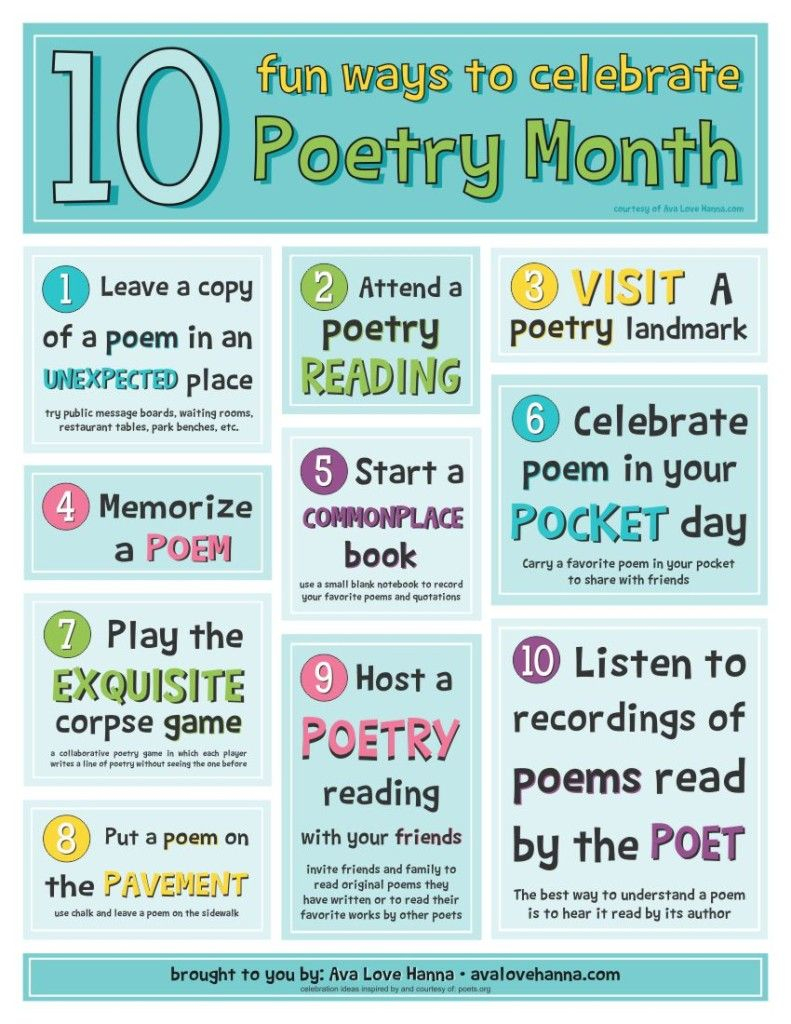 10 Fun Ideas For Celebrating Poetry Month With Kids And A Free - Free Printable Poetry Posters
