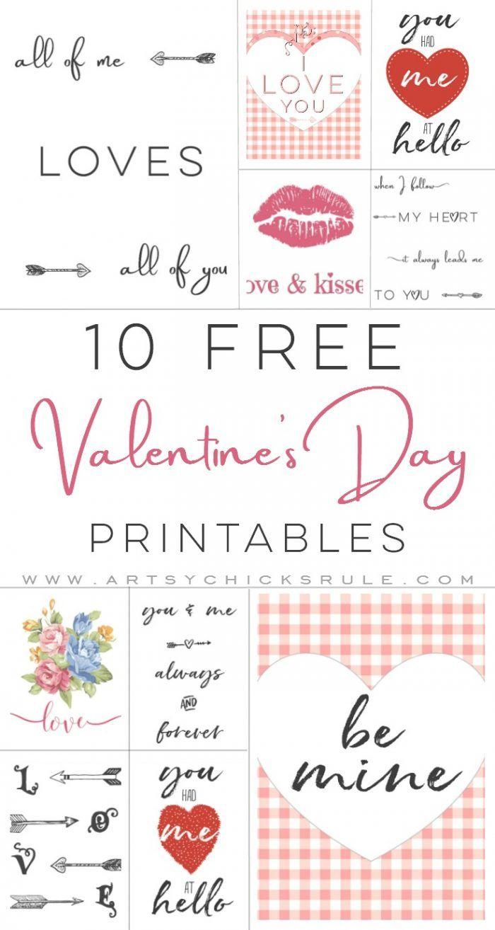 10 Valentine's Printables   Valentine Inspiration   Pinterest - Free Printable Valentine's Day Stencils