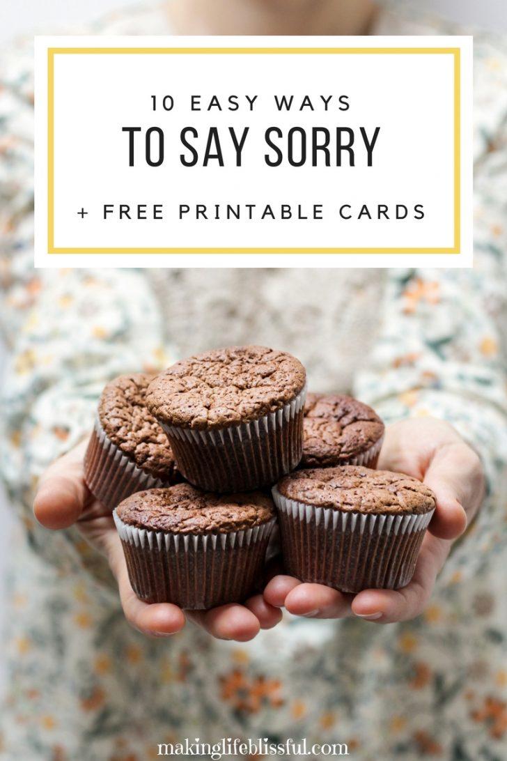 Free Printable I Am Sorry Cards