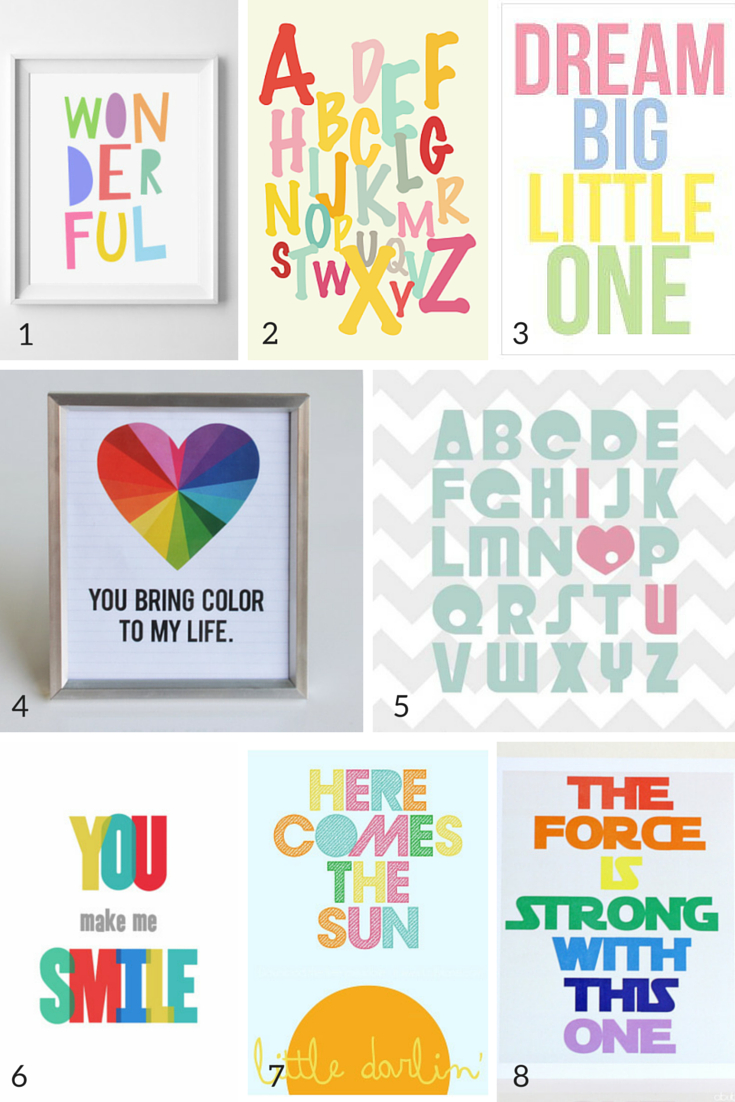100 Free Nursery Printables That'll Look Good In Every Baby's Room - Free Printable Wall Posters