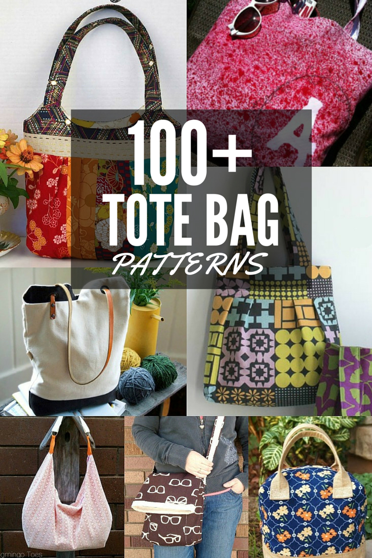100+ Free Tote Bag Patterns | Round Up - The Sewing Loft - Free Printable Purse Patterns To Sew