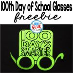 100Th Day Of School Glasses     100Th Day Of School Printable Glasses Free