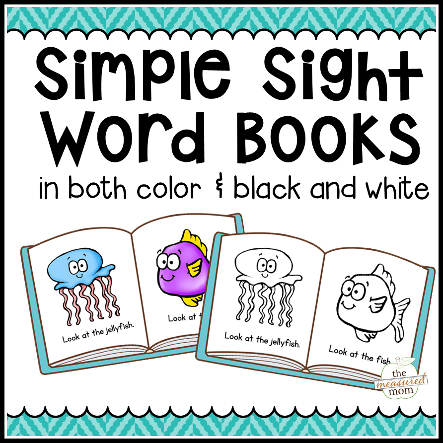 104 Simple Sight Word Books In Color & B/w - The Measured Mom - Free Printable Phonics Books
