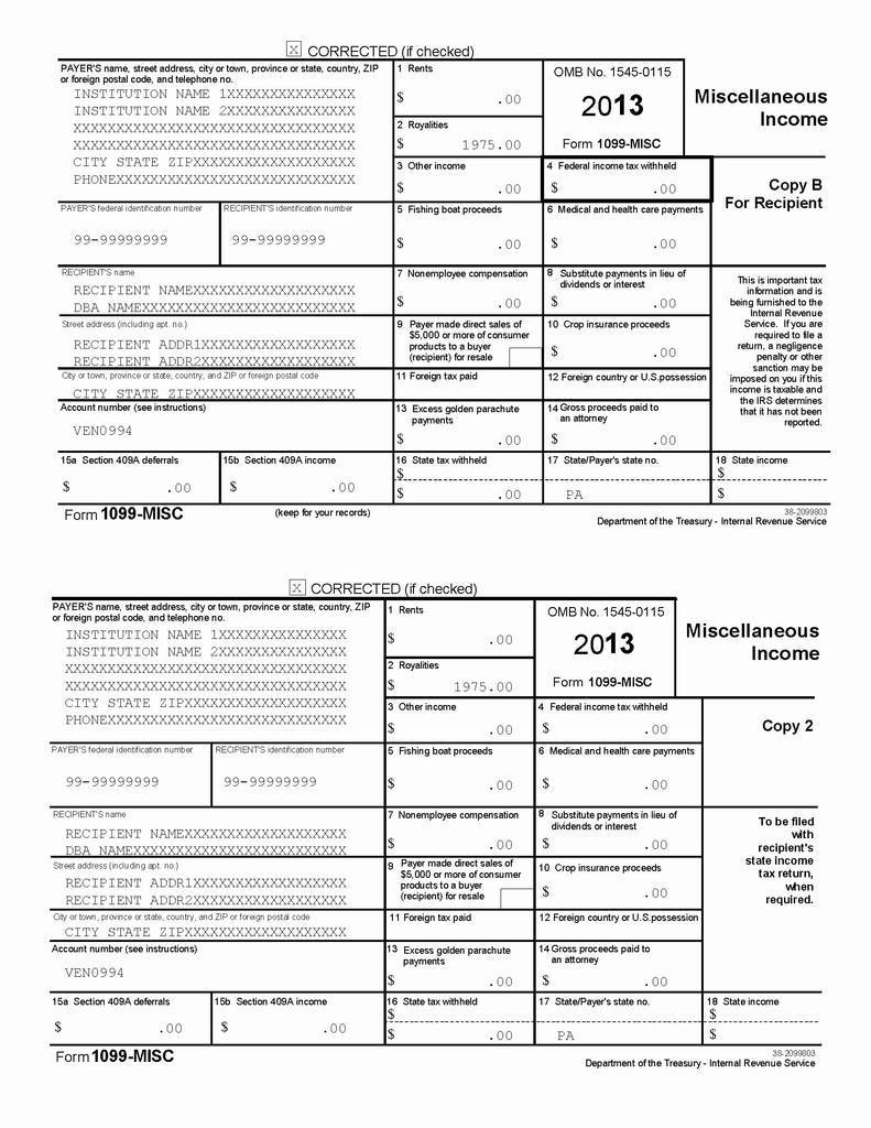 1099 Misc Template Irs #5775417000022 – 1099 Misc Form Fillable (+35 - Free 1099 Form 2013 Printable