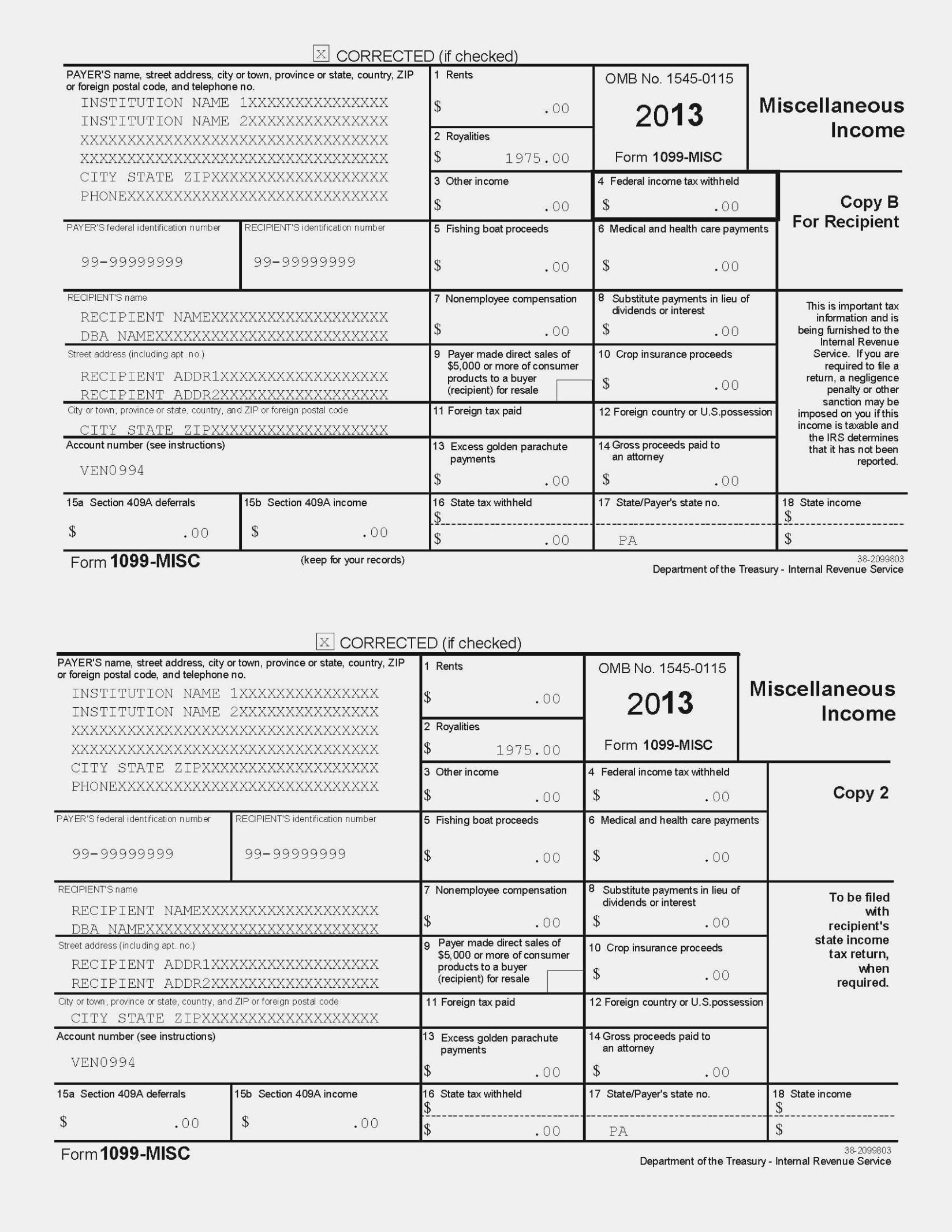 11 Benefits Of Printable 11 Misc Form 11 | Form Information - Free Printable 1099 Misc Form 2013