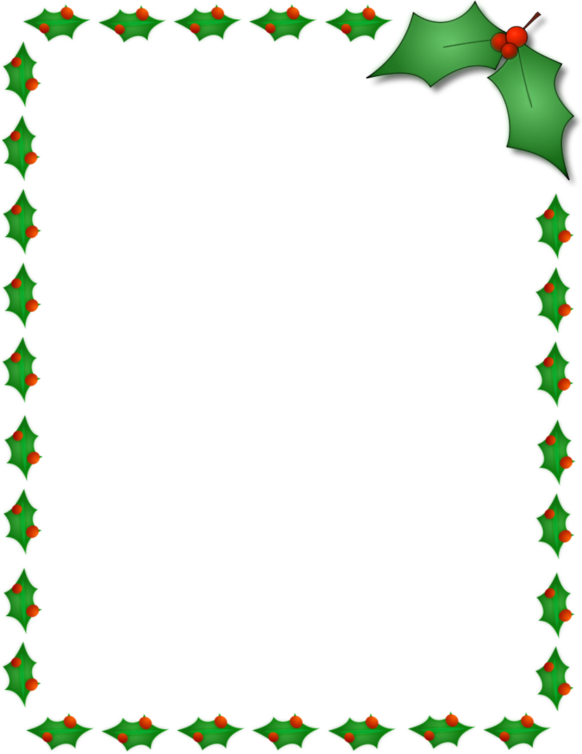 11 Free Christmas Border Designs Images - Holiday Clip Art Borders - Free Printable Page Borders Christmas