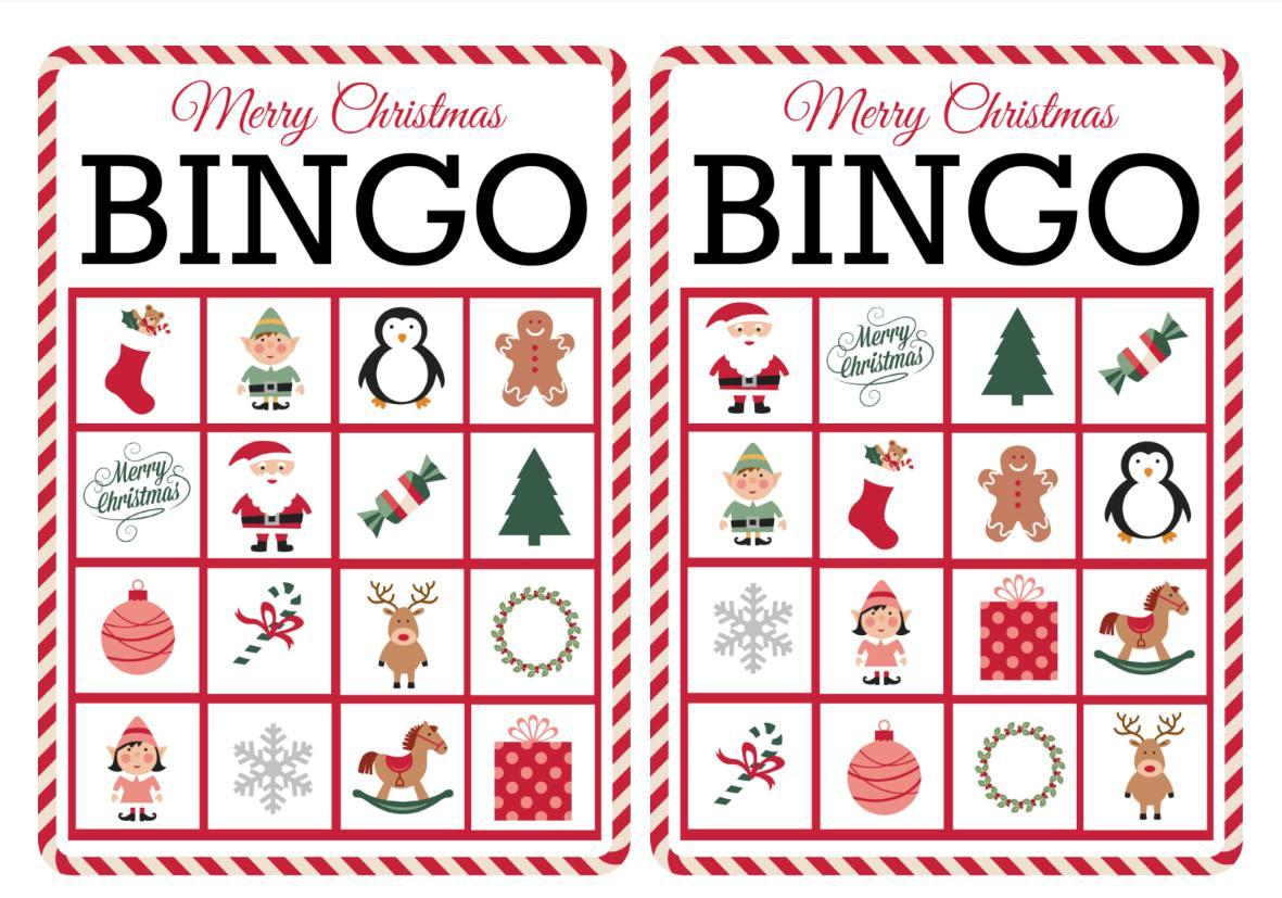 11 Free, Printable Christmas Bingo Games For The Family - Free Printable Bingo Cards For Large Groups