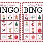 11 Free, Printable Christmas Bingo Games For The Family   Free Printable Personalized Christmas Invitations