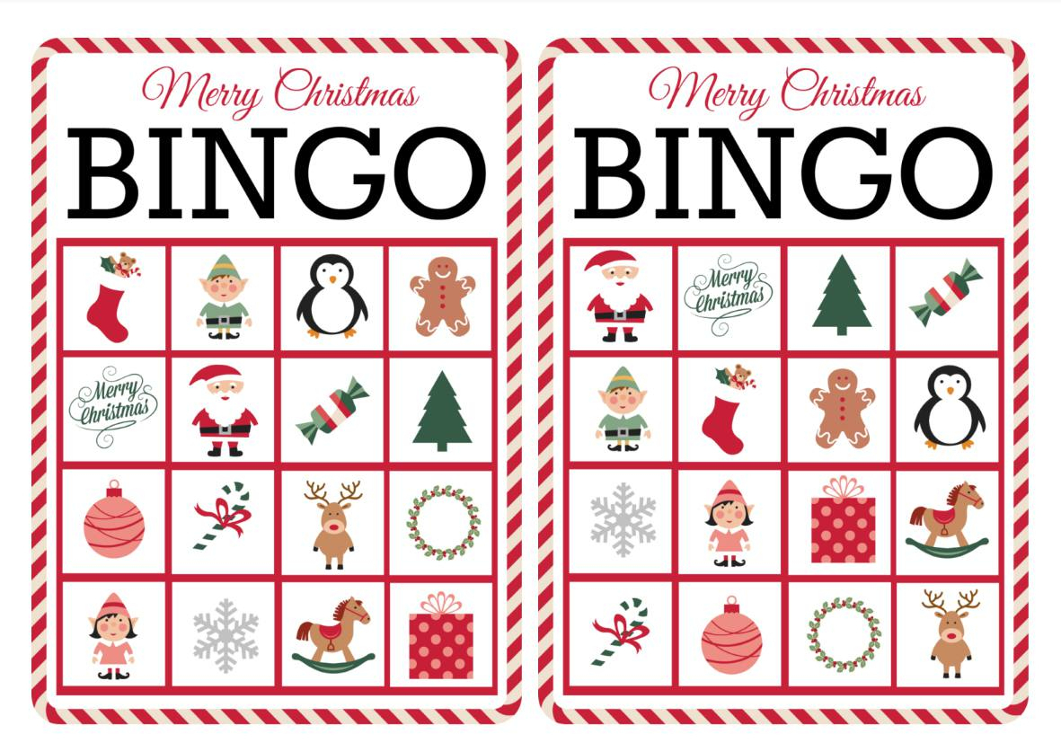 11 Free, Printable Christmas Bingo Games For The Family - Free Printable Personalized Christmas Invitations