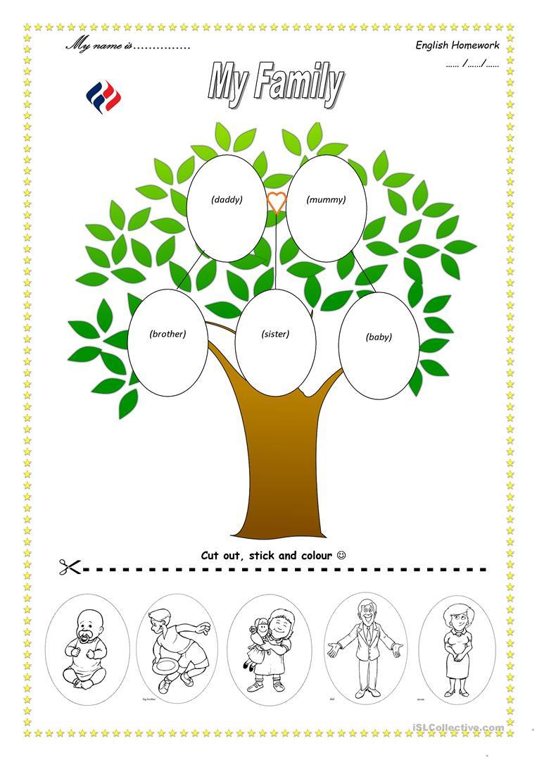 113 Free Esl Family Tree Worksheets - My Family Tree Free Printable Worksheets
