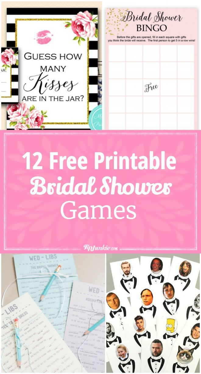 12 Free Printable Bridal Shower Games | Party Time | Pinterest - Free Printable Household Shower Games