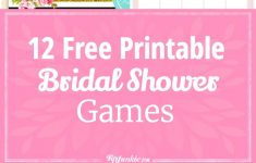 Free Bridal Shower Printable Decorations