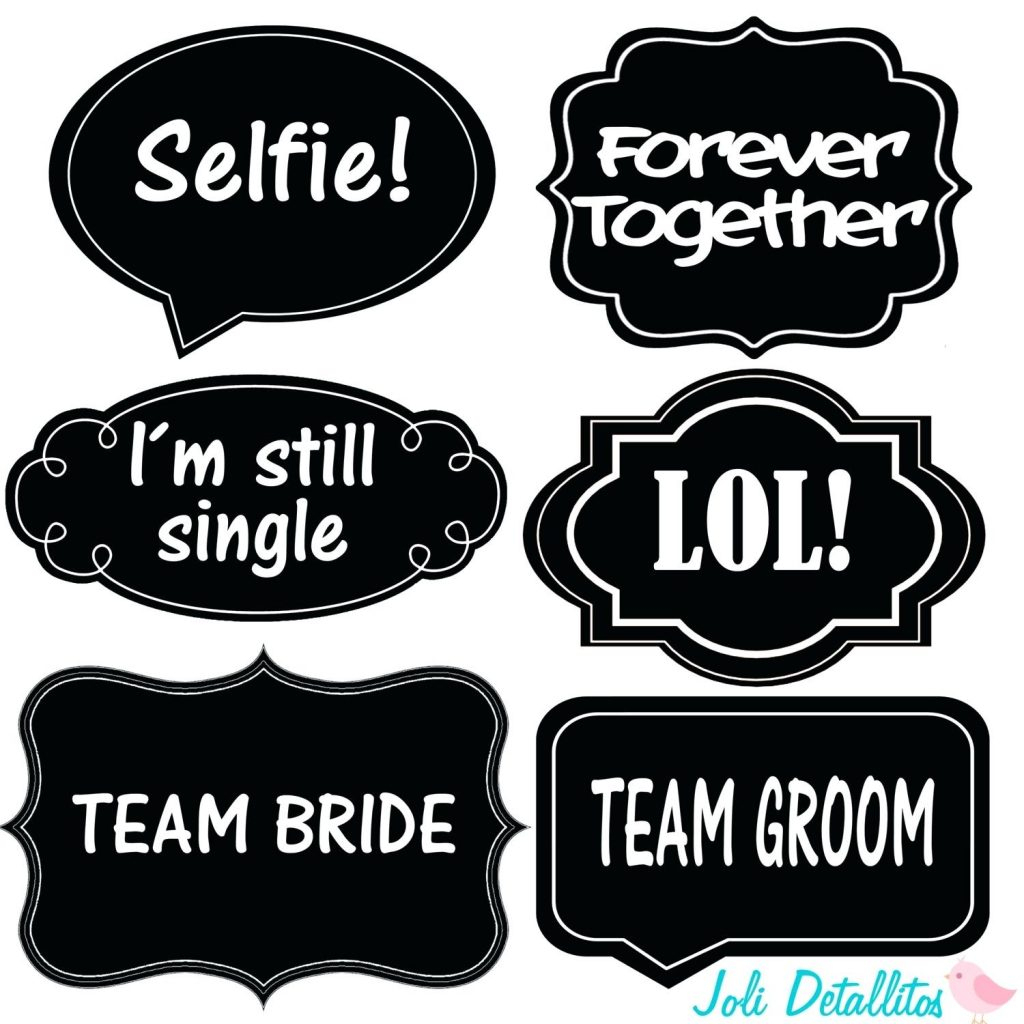 12 Lovely Wedding Photo Booth Props Printable Pdf For 2018 – Wedding - Free Photo Booth Props Printable Pdf