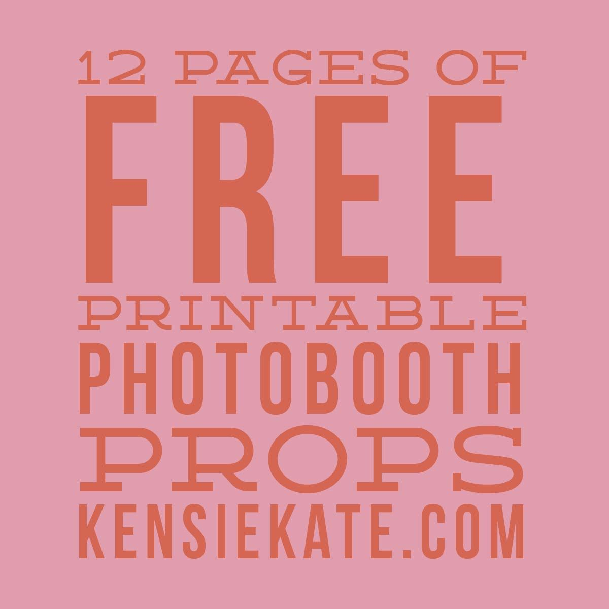 12 Pages Of Free Printable Photobooth Props | An Honorable Maid - Printable 90S Props Free