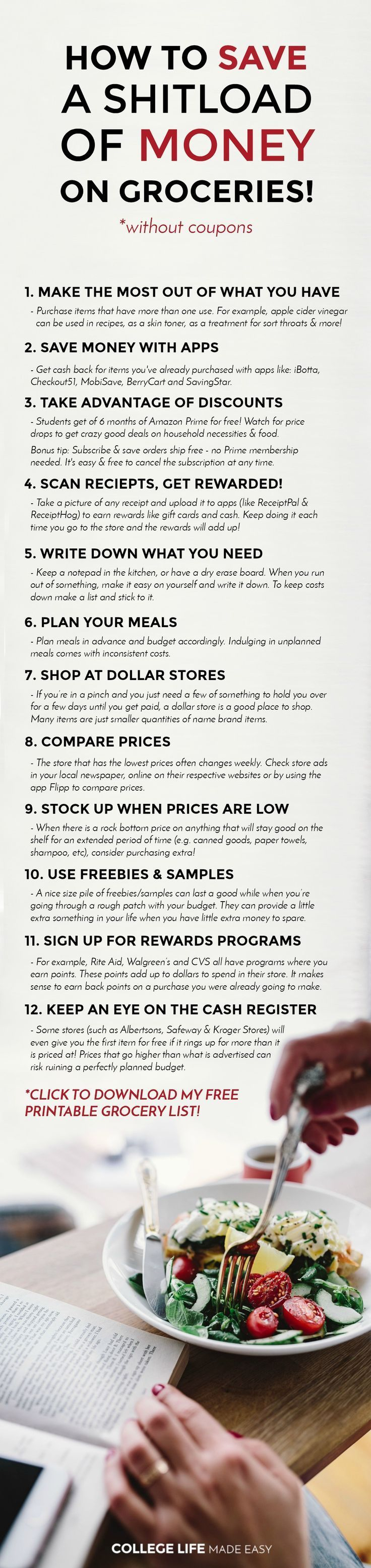 12 Ways To Save Money On Groceries! (Without Coupons) | Free - Free Printable Coupons Without Downloads