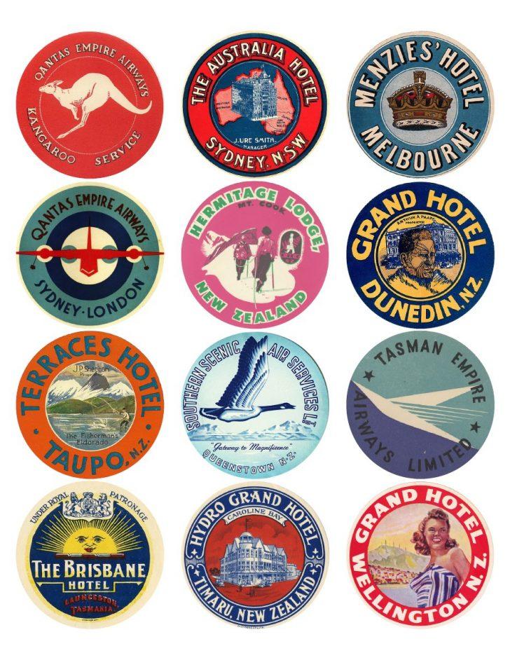Free Printable Travel Stickers