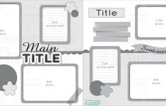 12X12 Two Page Free Printable Scrapbook Layout - Free Printable Scrapbook Page Designs