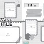 12X12 Two Page Free Printable Scrapbook Layout   Free Printable Scrapbook Pages