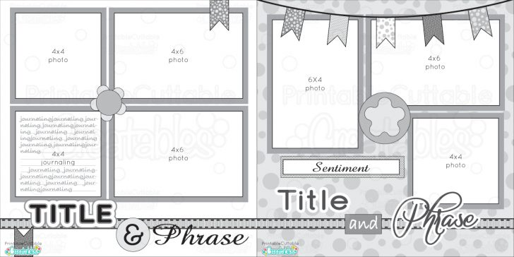 Free Printable Scrapbook Page Designs