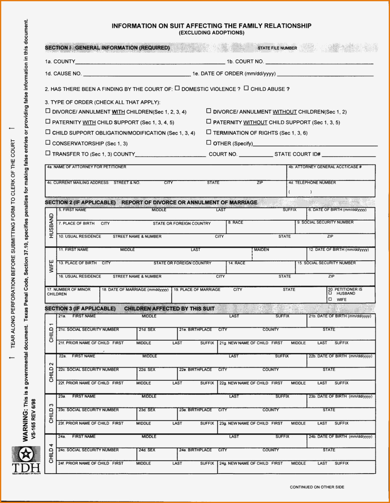 13 Free Divorce Papers In Texas Document Printable Forms 13 | Nayvii - Free Printable Divorce Forms Texas