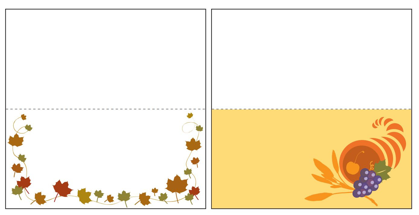 13 Sets Of Free, Printable Thanksgiving Place Cards - Free Printable Thanksgiving Place Cards