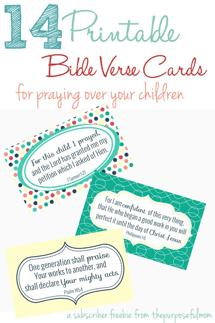 14 Bible Verses Every Mom Can Pray Over Her Children - The - Free Printable Bible Verses For Children