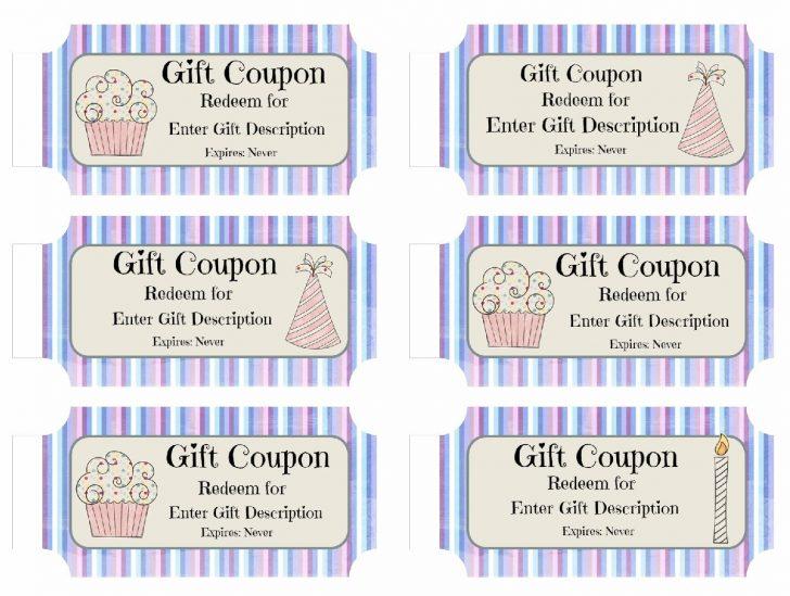 Free Printable Blank Birthday Coupons