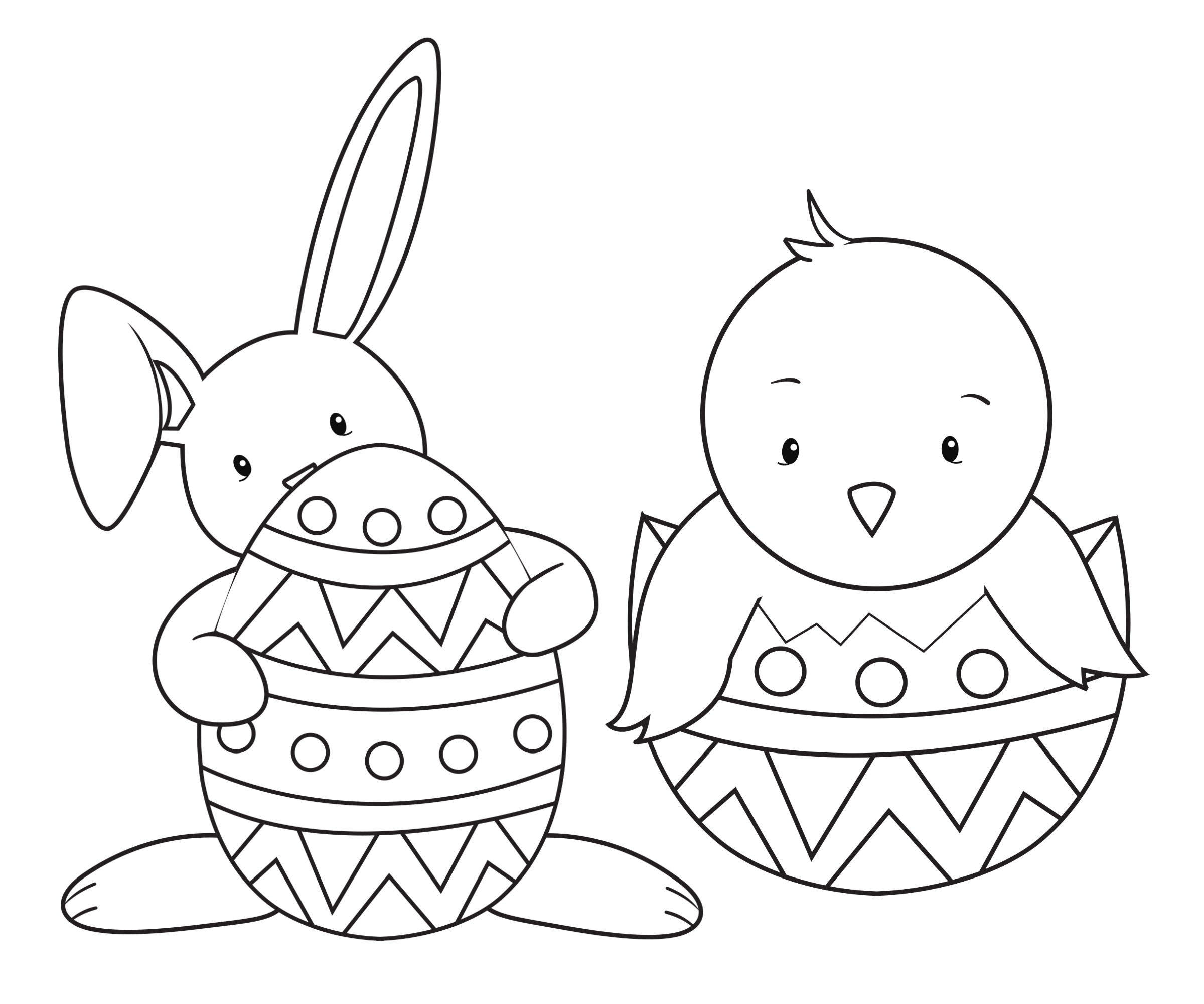15 Easter Colouring In Pages - The Organised Housewife - Free Printable Easter Colouring Sheets