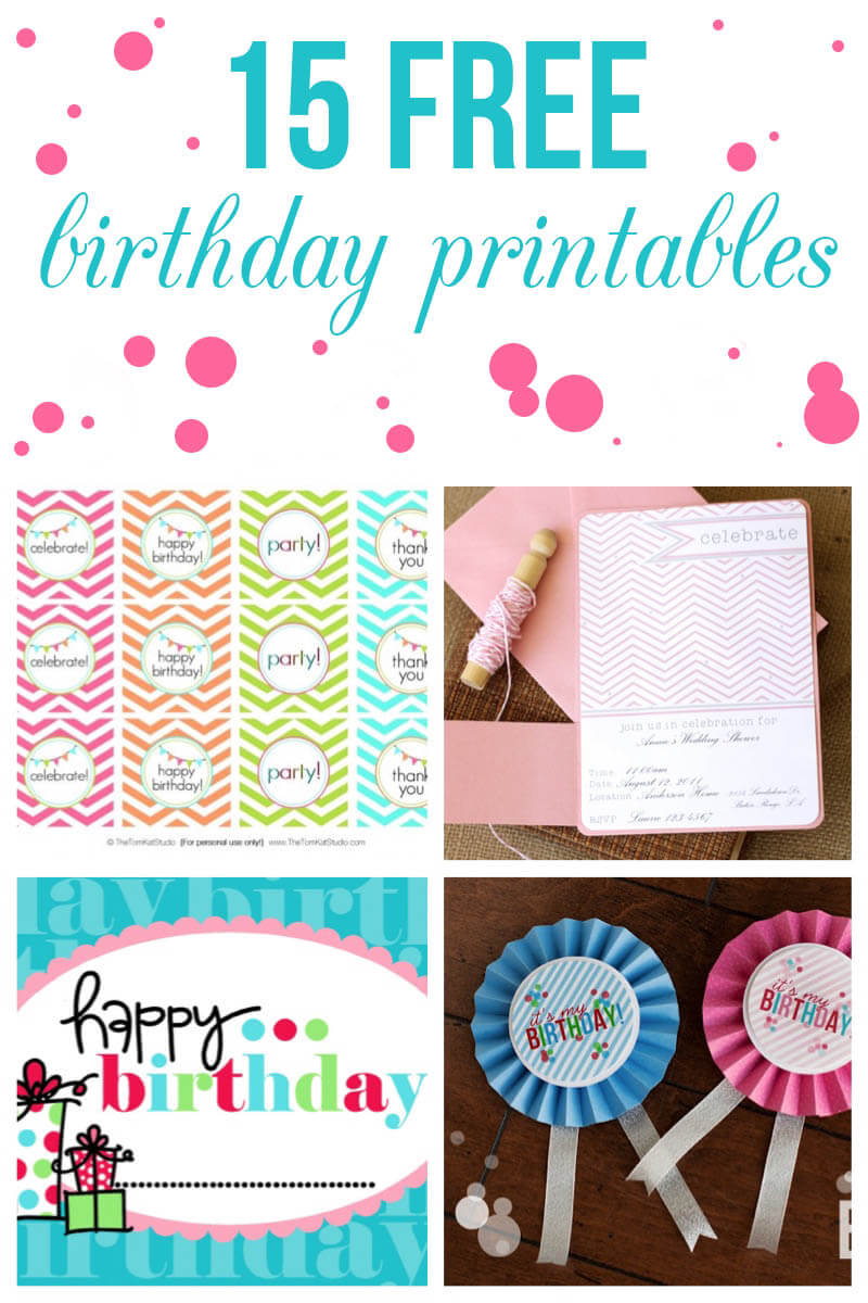 15 Free Birthday Printables - I Heart Nap Time - Free Printable Party Signs