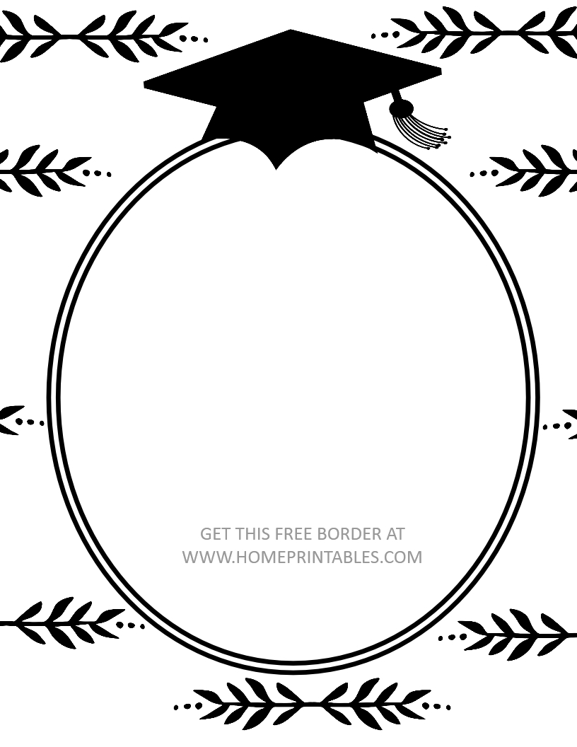 15 Free Graduation Borders {With 5 New Designs!} - Home Printables - Free Printable Graduation Paper