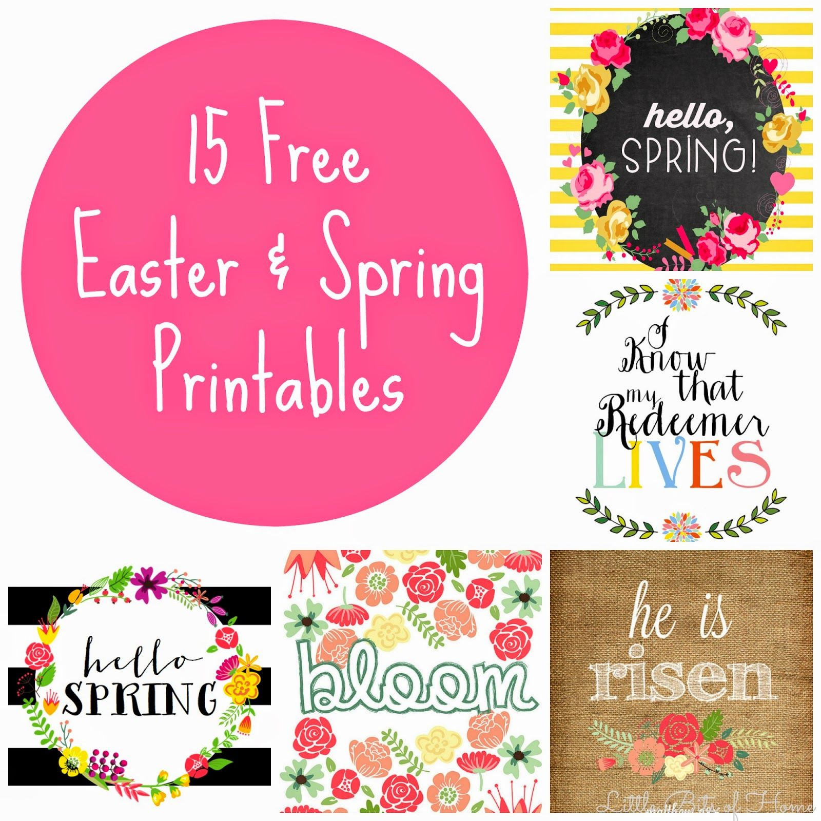 15 Free Spring And Easter Printables   Artsy Stuff   Pinterest - Free Printable Spring Decorations
