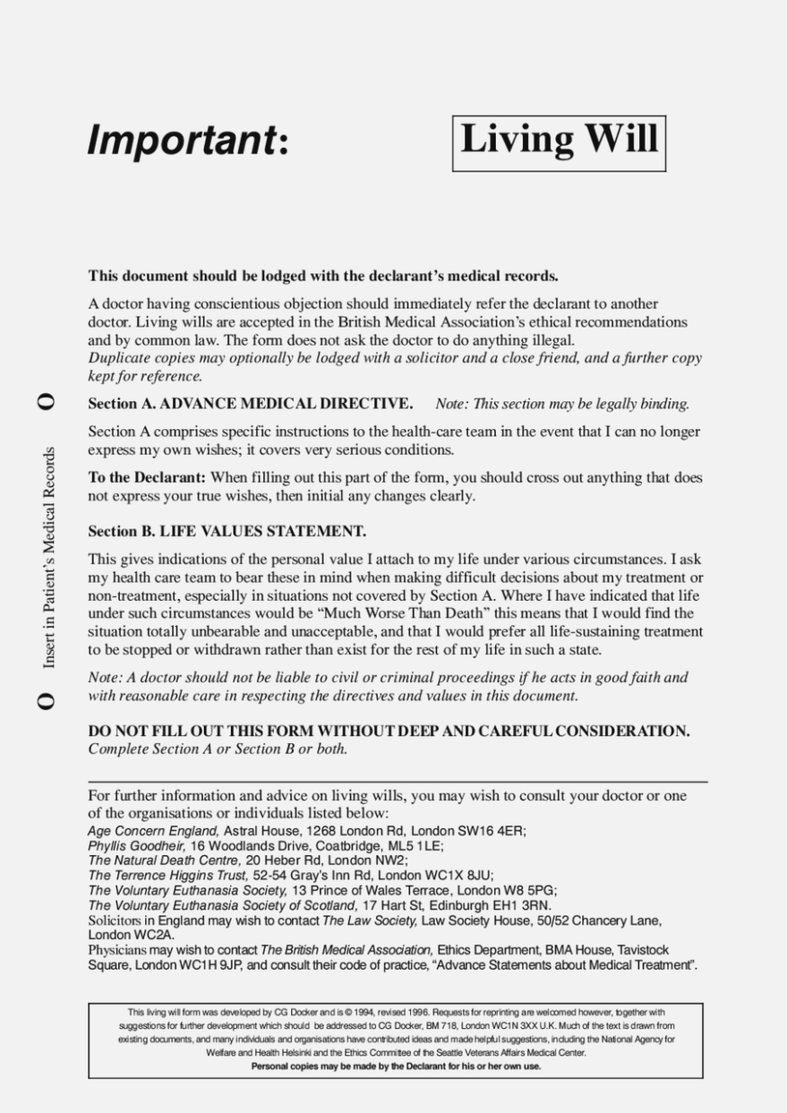 15 Moments That Basically Sum | The Invoice And Form Template - Living Will Forms Free Printable