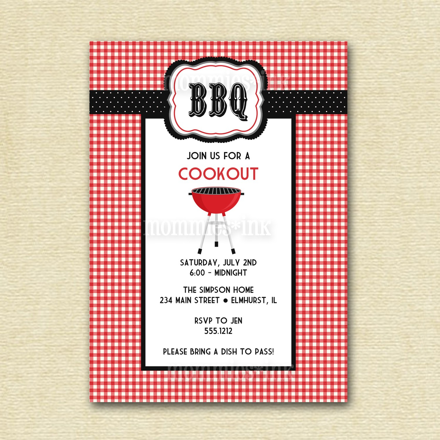 16 Free Printable Cookout Invitations Template Images - Free Cookout - Free Printable Cookout Invitations