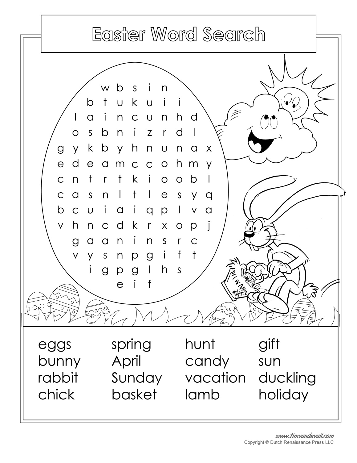 16 Printable Easter Word Search Puzzles | Kittybabylove - Free Printable Religious Easter Word Searches