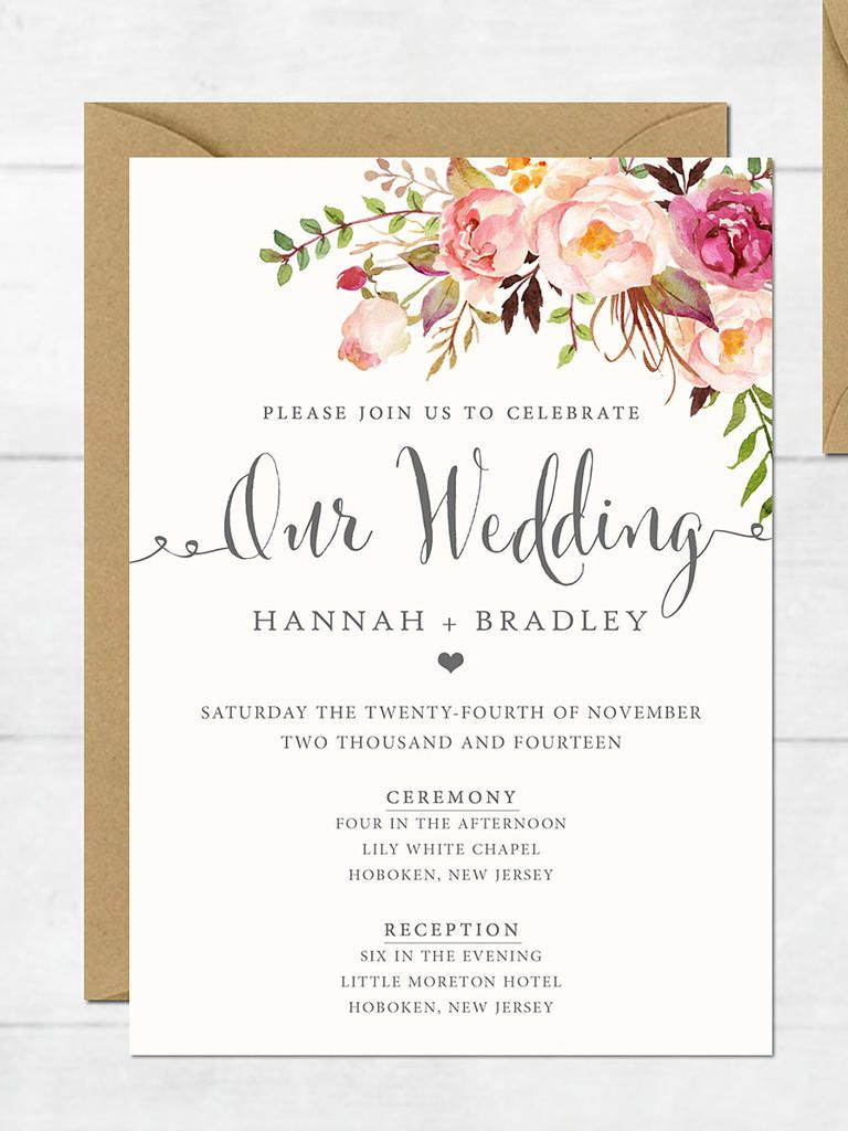 16 Printable Wedding Invitation Templates You Can Diy | Invitation - Free Printable Wedding Invitations With Photo