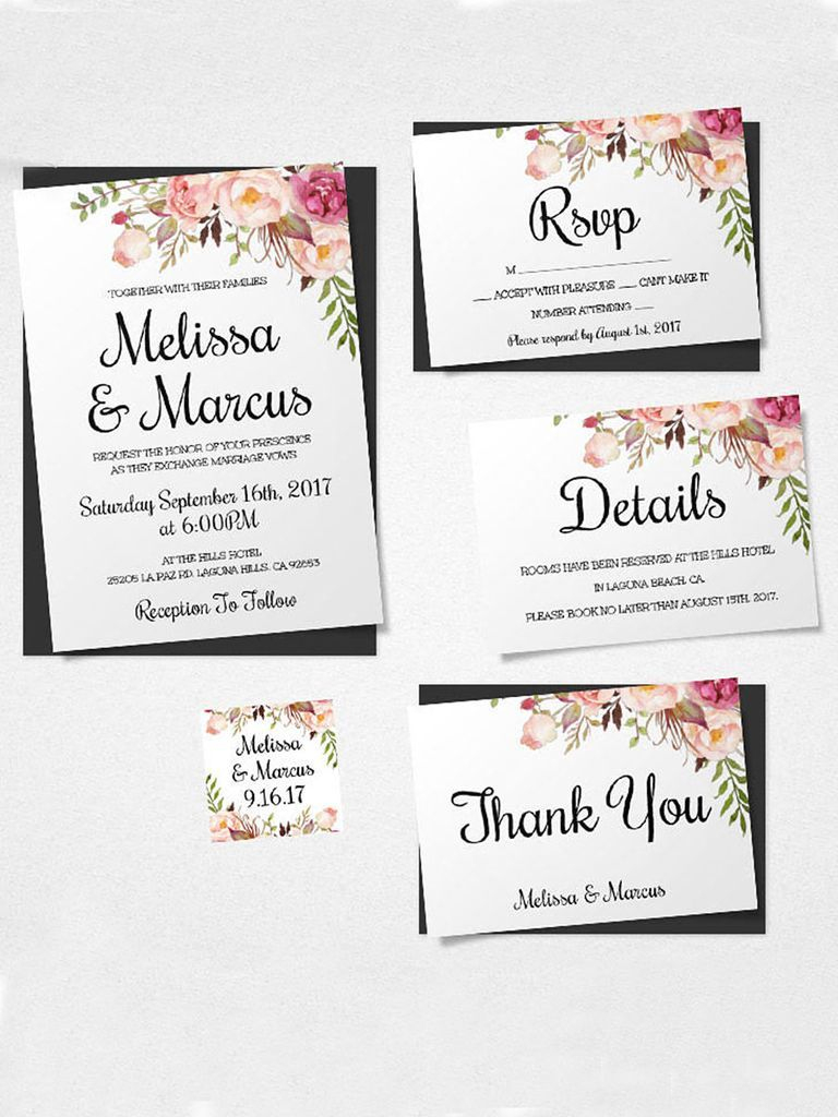 16 Printable Wedding Invitation Templates You Can Diy   Wedding - Free Printable Wedding Inserts