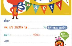 Birthday Party Invitations Online Free Printable