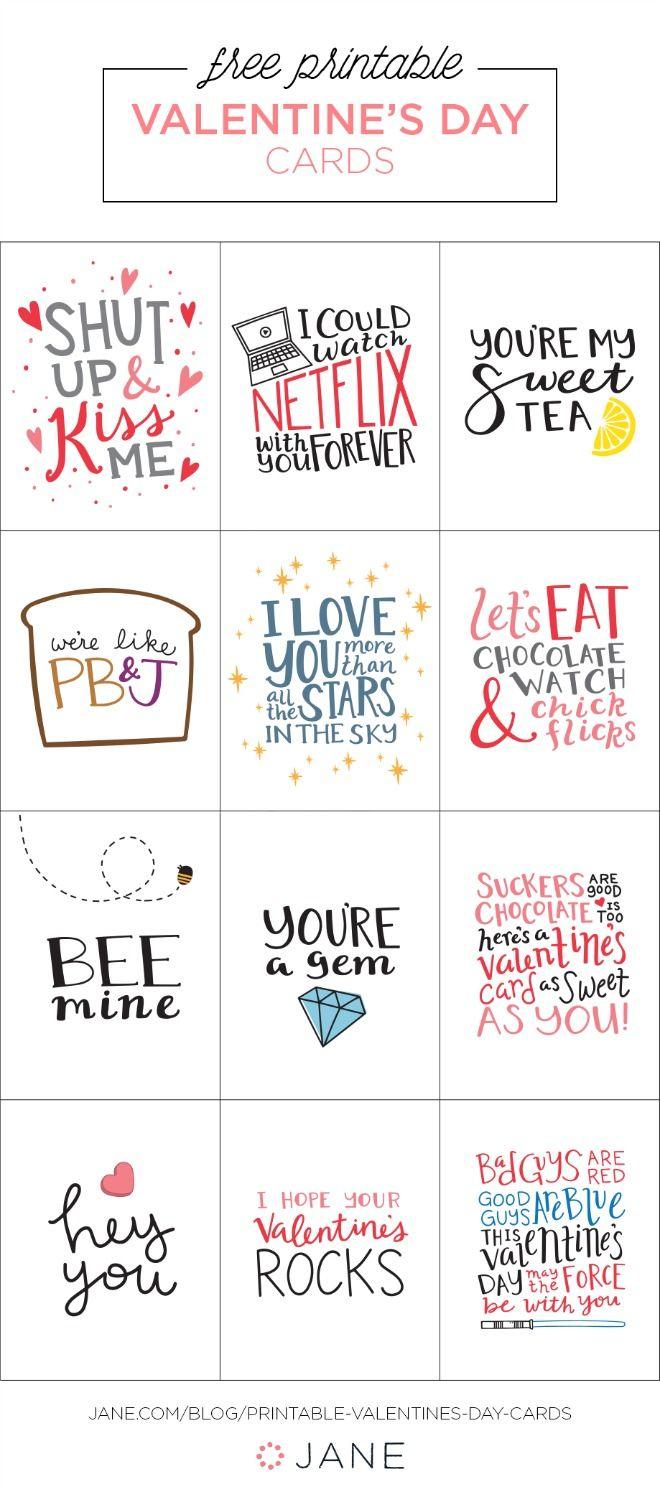 17 Free Printable Valentine Greeting Cards | Valentine's Inspiration - Free Printable Valentines Day Cards