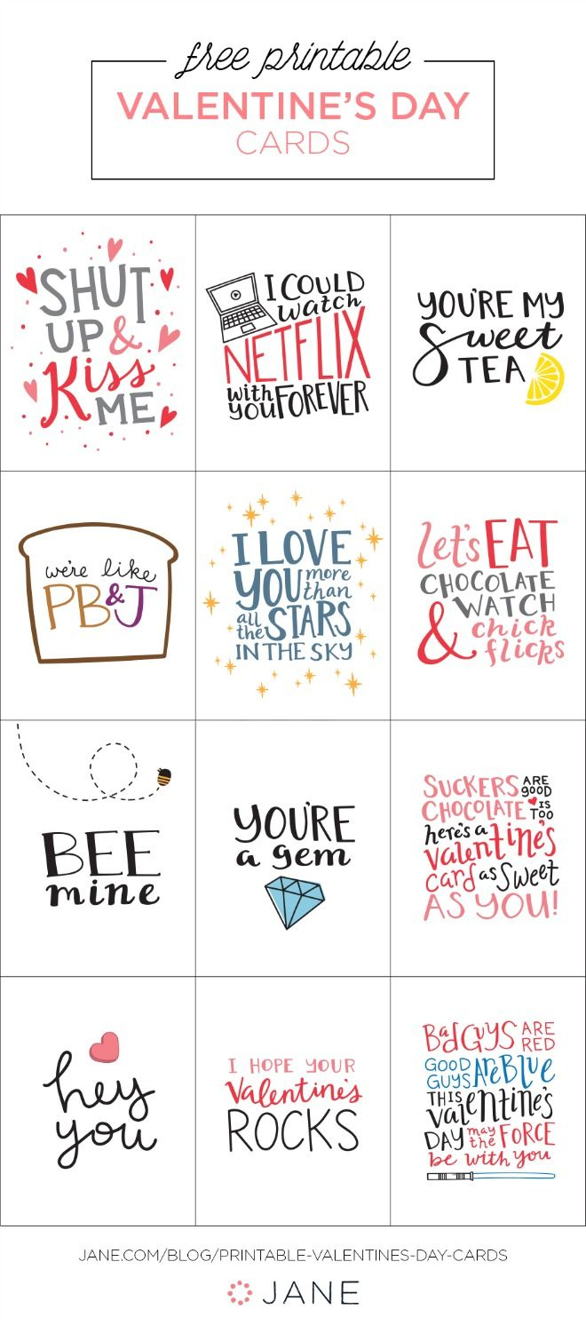 17 Free Printable Valentine Greeting Cards | Valentine's Inspiration - Free Valentine Printable Cards For Husband