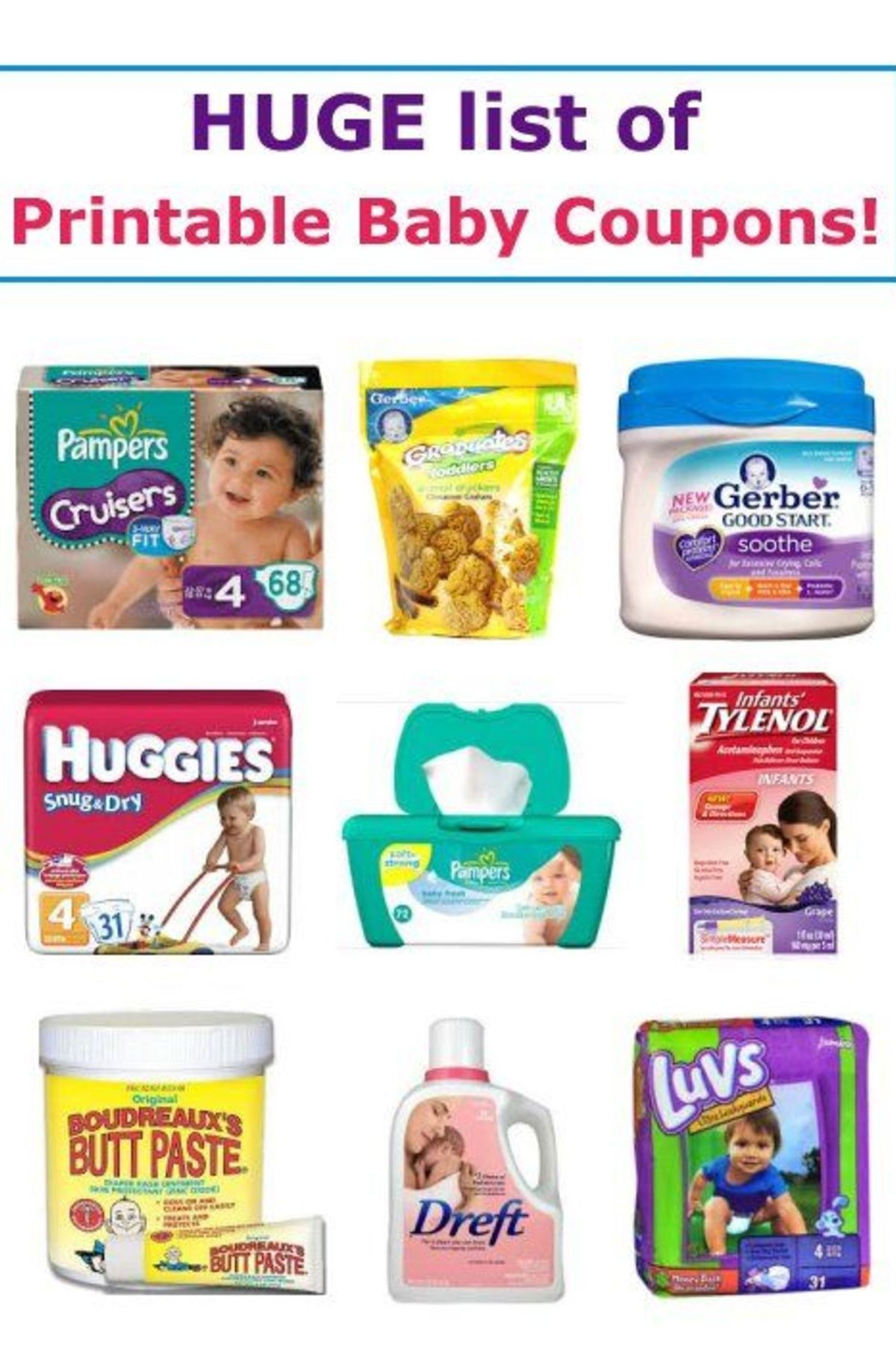 17 Printable Baby Coupons | Baby On A Budget | Baby Coupons, Baby - Free Printable Coupons For Baby Diapers