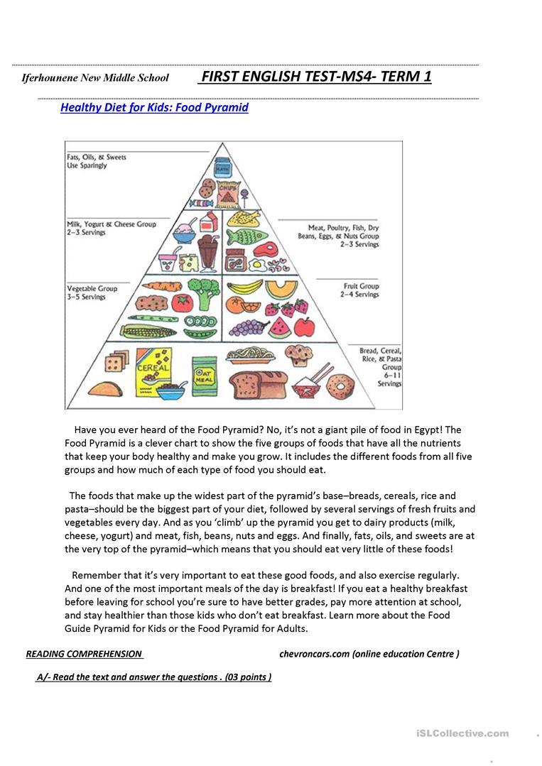 18 Free Esl Food Pyramid Worksheets - Free Printable Food Pyramid