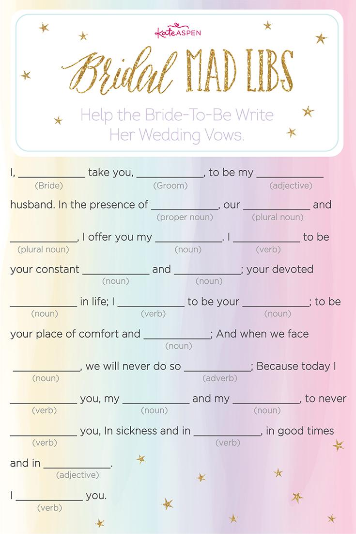 18 Fun Wedding Mad Libs   Kittybabylove - Free Printable Wedding Mad Libs