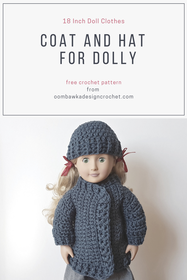 18 Inch Doll Clothes - Coat And Hat For Dolly - Free Printable Crochet Doll Clothes Patterns For 18 Inch Dolls