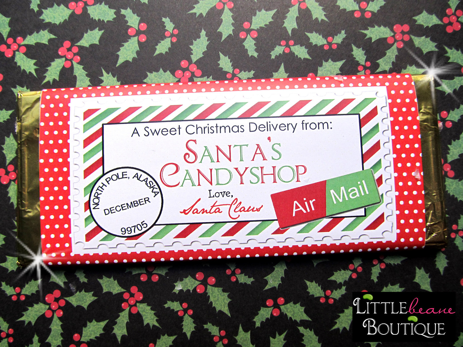 19 Images Of Bar Template Christmas | Unemeuf - Free Printable Christmas Candy Bar Wrappers