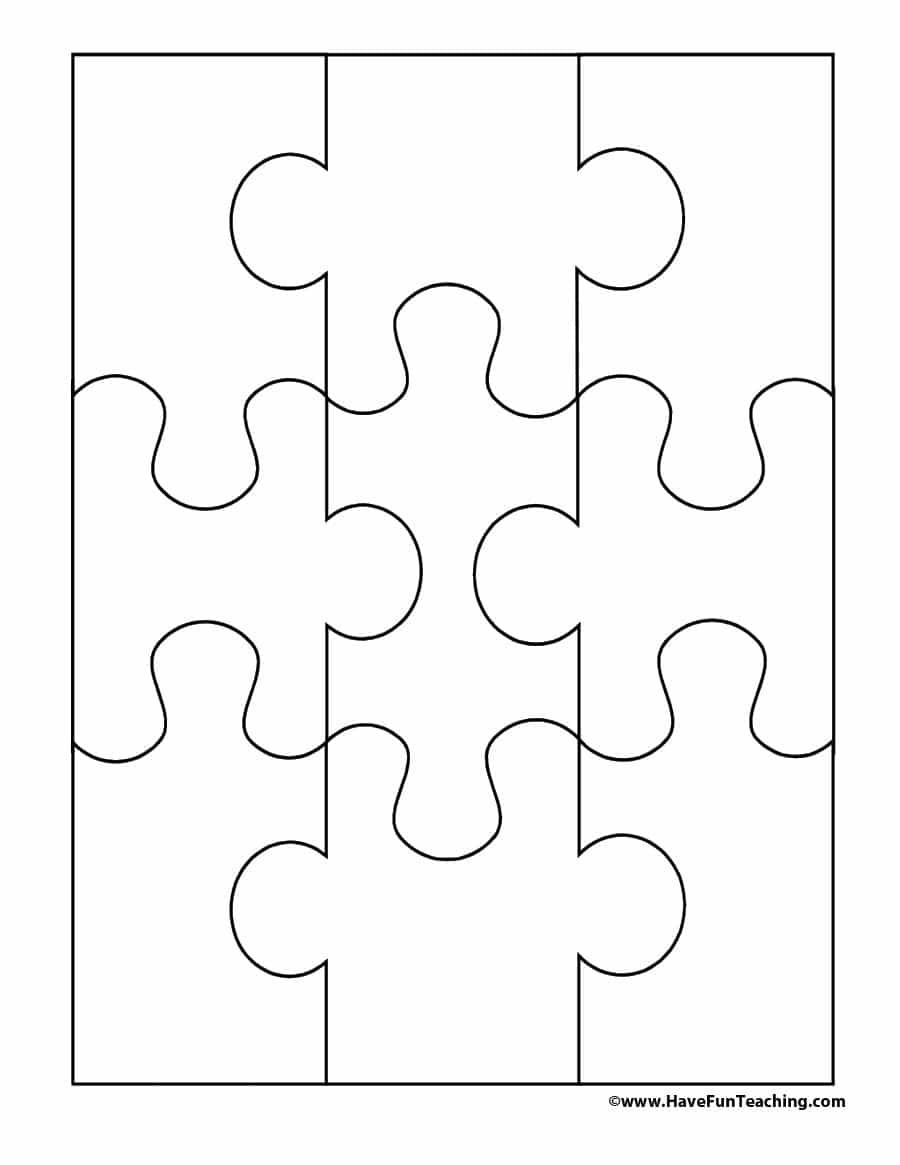 19 Printable Puzzle Piece Templates - Template Lab - Free Printable Puzzles