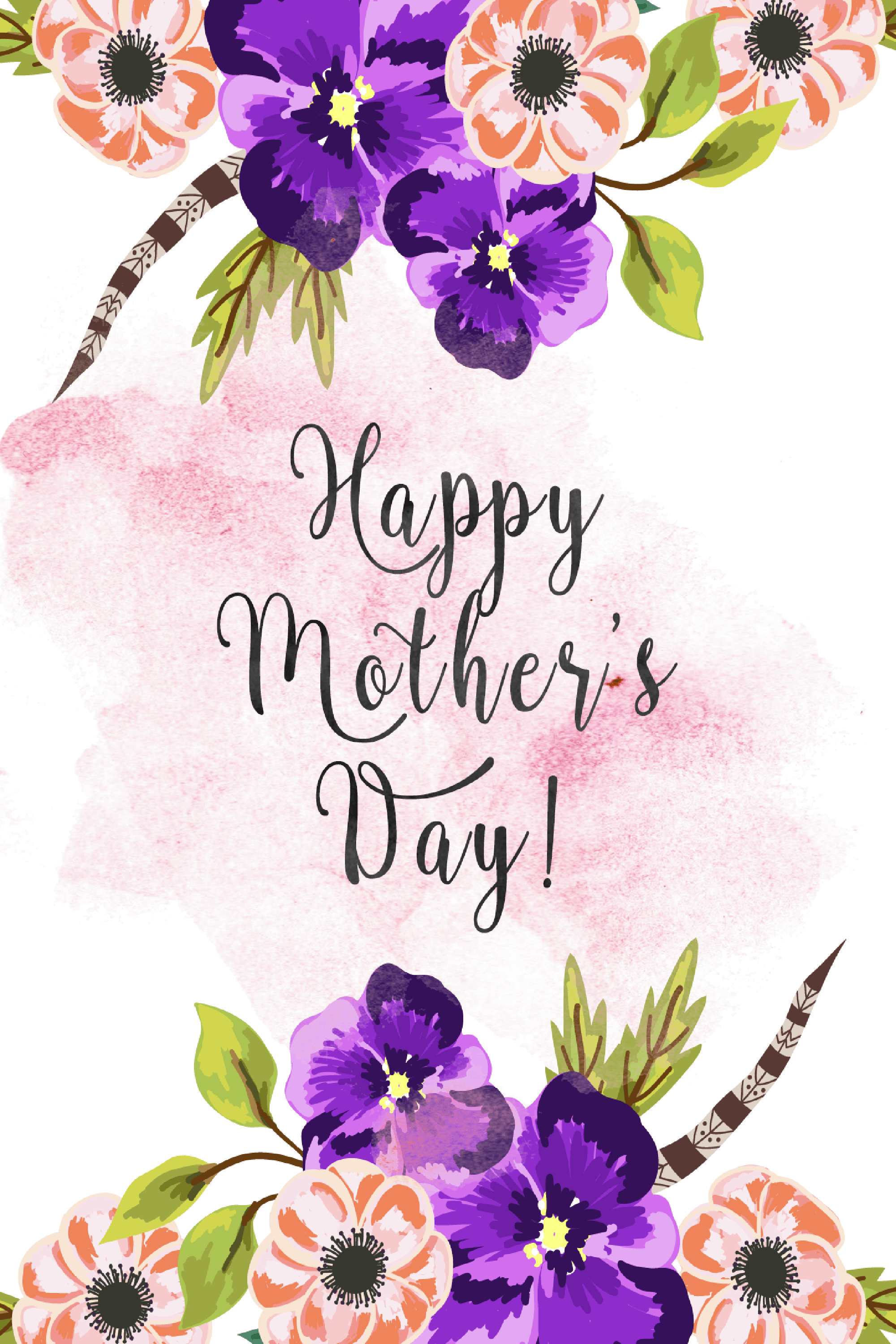20 Cute Free Printable Mothers Day Cards - Mom Cards You Can Print - Free Printable Mothers Day Cards No Download