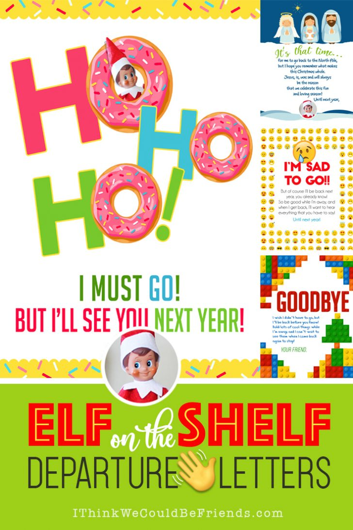 Elf On The Shelf Free Printable Ideas